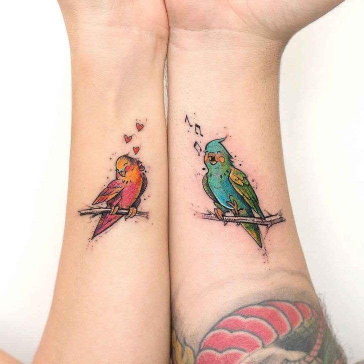 Love Bird Tattoos for Couples | //TATT IDEAS// | Pinterest
