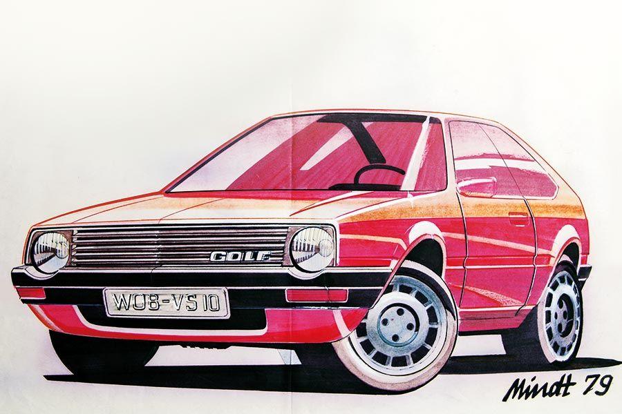 Volkswagen Golf Mk 2 Sketch