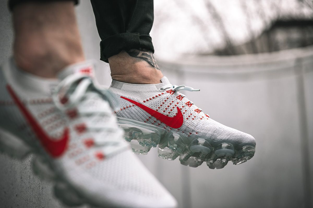 Nike Air Vapormax Flyknit Pure Platinum White Wolf Grey Men