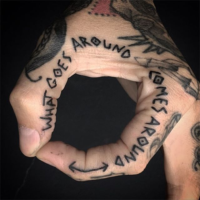 By Cody Nsi Finger Tattoo Tattooed Man Script Tattoo Tattoo Idea Kelowna Lake Cou Cool Tattoos For Guys Hand Tattoos For Guys Tattoos For Guys