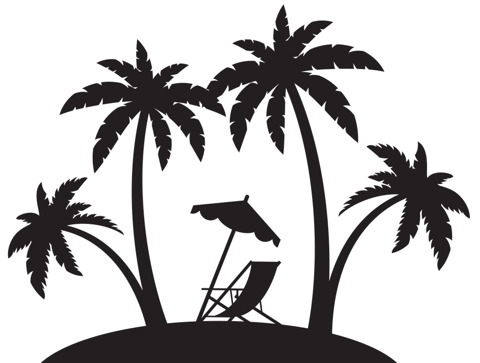 Pin By Kim Hoffman On Sea Stuff In 2020 Palm Tree Silhouette Silhouette Clip Art Beach Scenes