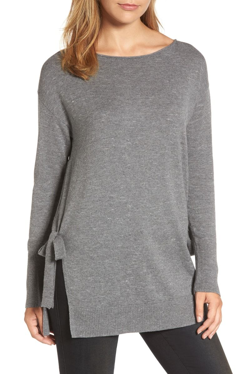 907eeda36 Free shipping and returns on Caslon® Side Tie Tunic Top (Regular & Petite)  at Nordstrom.com. Soft, knotted ties accent the deep side slits of a  tunic-length ...