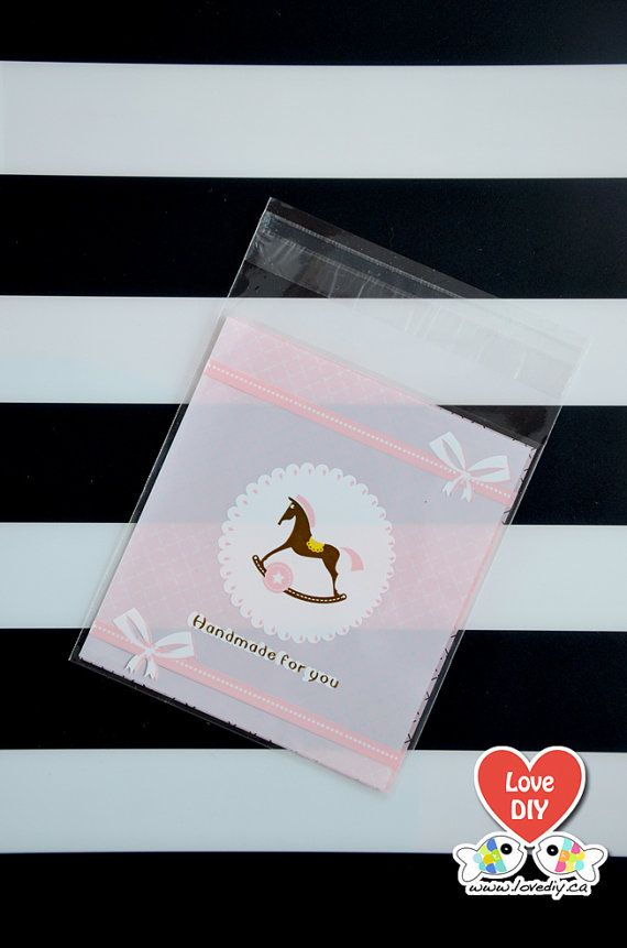 Self Seal Party Favor Bag, Cookie Gift Bag, Gift Bag, Wedding Favor Bag by LoveDIYdotca @Etsy, $2.49