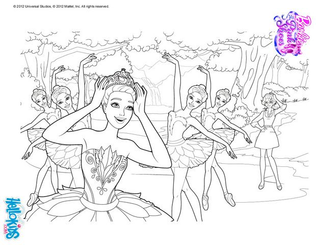 Krystin Farraday In The Ballet Swan Lake Barbie Printable Barbie Coloring Pages Coloring Pages Cute Coloring Pages
