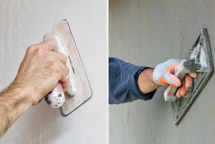 Plastering Solutions - Cement Plaster vs. Gypsum Plaster ...