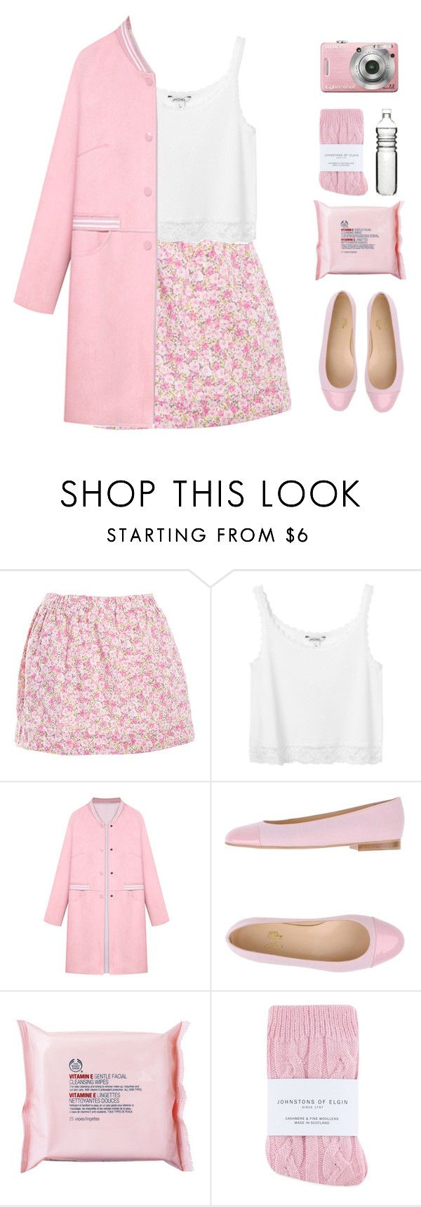 """""""Pastel Trench"""" by via-m ❤ liked on Polyvore featuring J.Crew, Monki, WithChic, Chérie Amour, The Body Shop, Johnstons, Dot & Bo, women's clothing, women's fashion and women"""