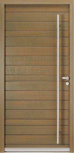 Modèle Belcastel Porte du0027entrée bois contemporaine sans vitrage Un - dimensions porte d entree