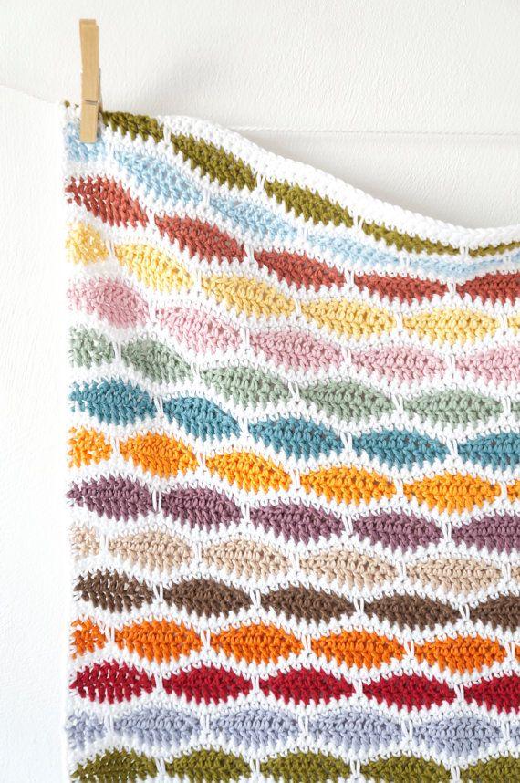Crochet Patterns, Beginner Blanket, Lap Afghan, Nursery Decor ...