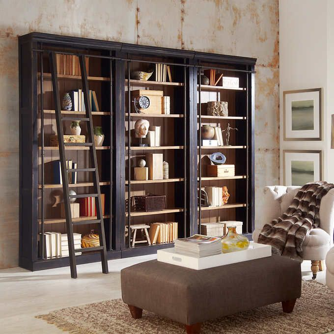 Tuscan 3 Piece Bookcase Wall And Ladder