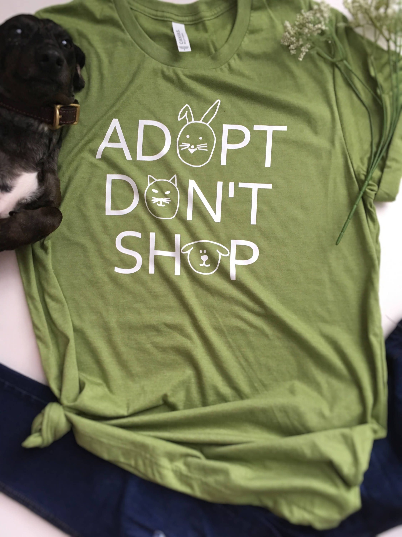 0b518e0c3335 Animal lover shirt, adopt don't shop shirt, dog mom shirt, animal lover  clothing, animal rescue shirt, dog rescue shirt, cat rescue shirt, ...