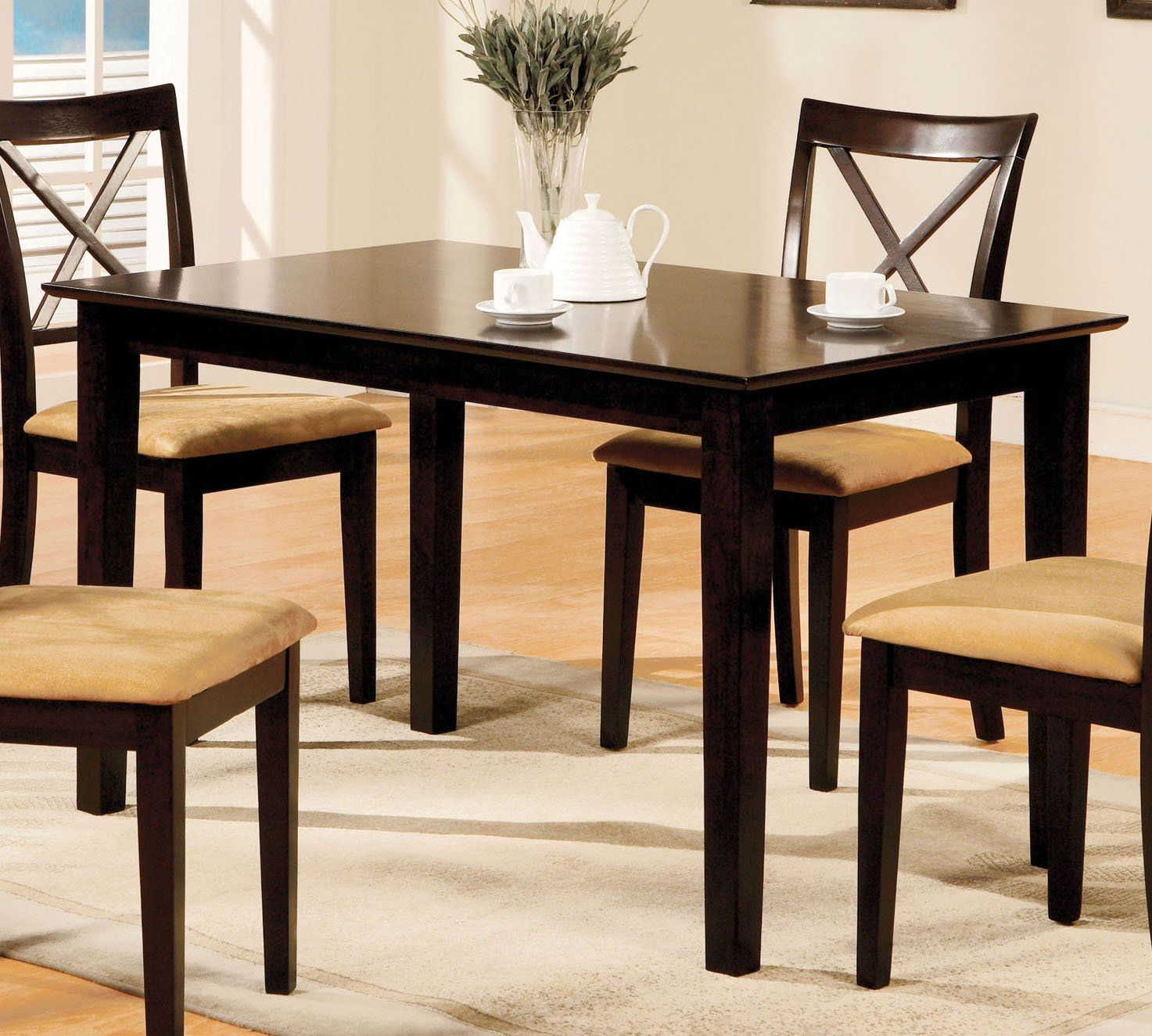 Furniture Of America Melbourne I Espresso Wood Finish Dining Table Dining Table Dimensions Dining Table Table