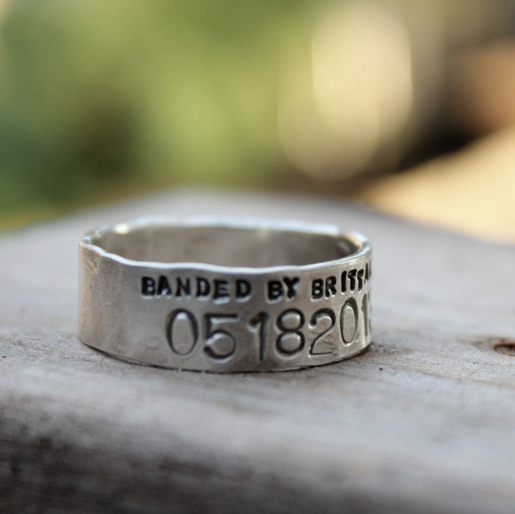 Narrow Duck Band Wedding Ring For Men And Women Unisex Personalized Rings For Men Duck Band Wedding Ring Wedding Rings