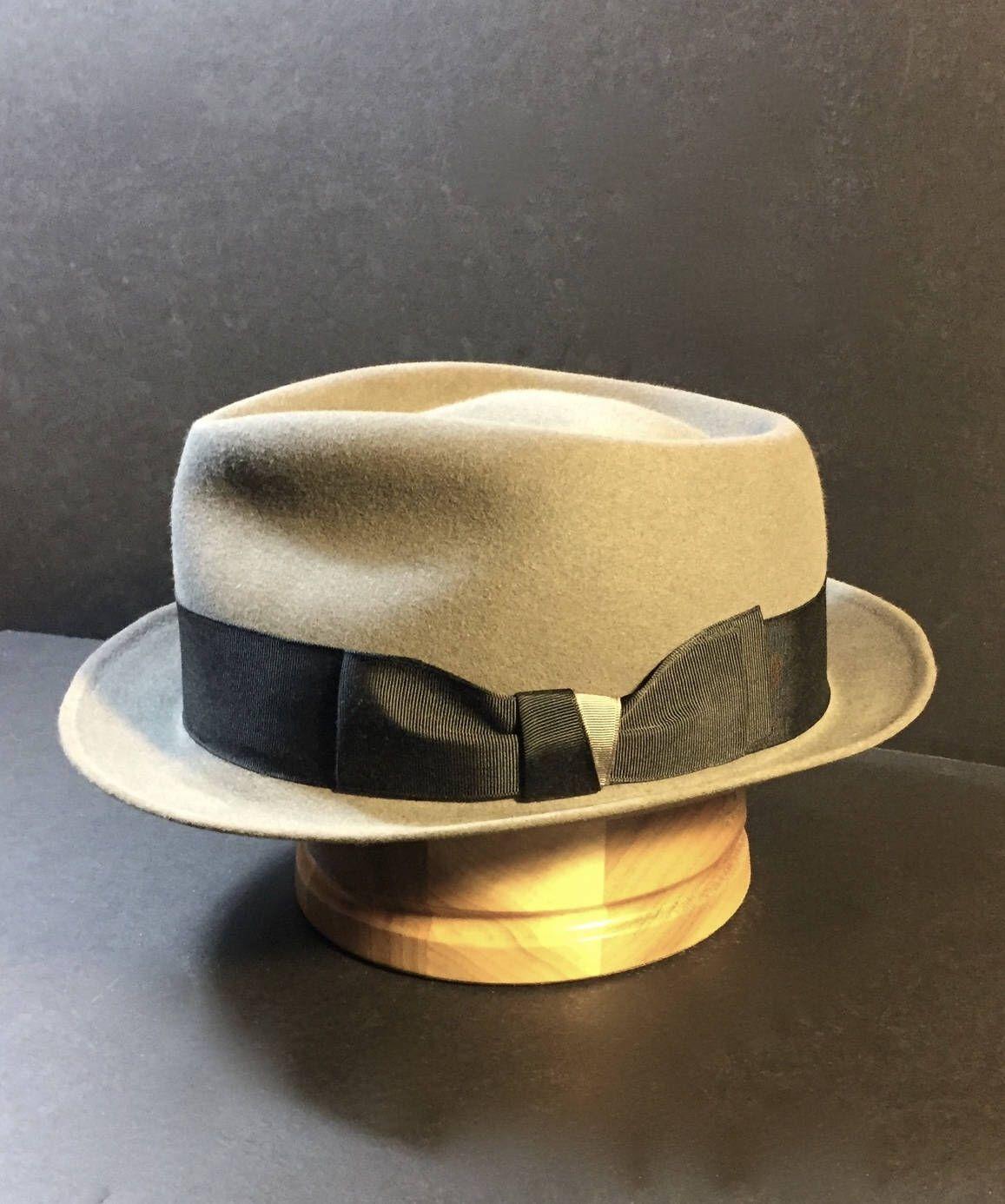 Vintage Refurbished Gray Dobbs Rainbow Hat Fedora Size 7 1 4 Etsy Rainbow Hats Low Crown Hats Fedora