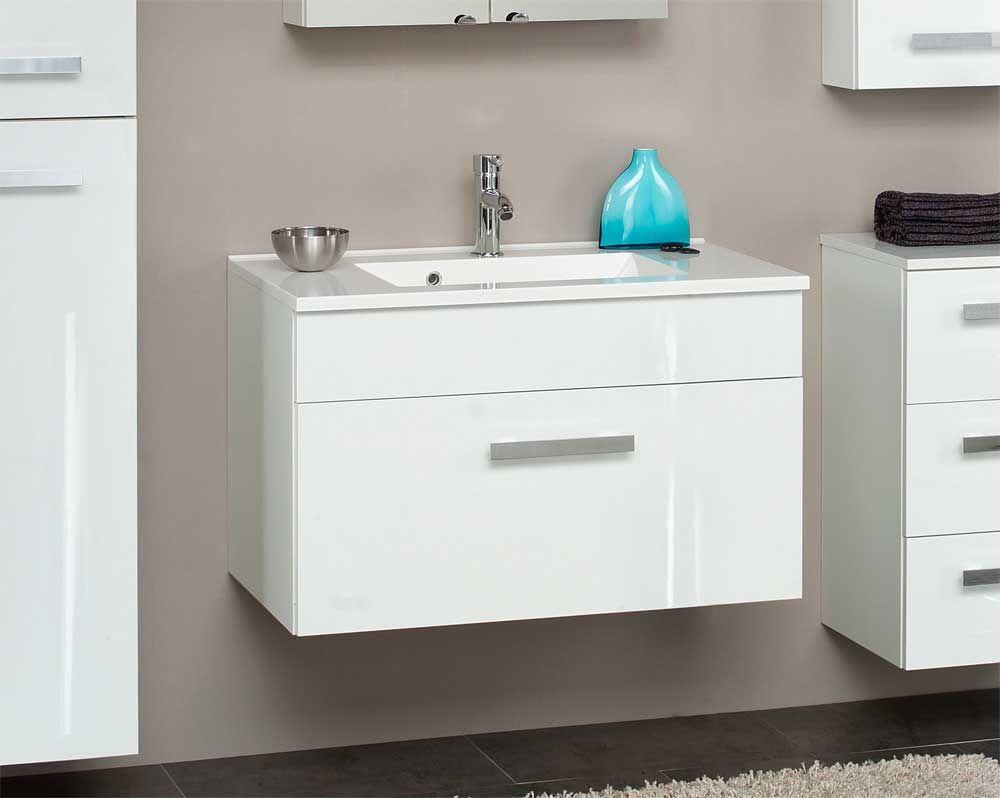 Waschplatz in Weiß Hängend Jetzt bestellen unter: https://moebel ... | {Waschbeckenunterschrank hängend 37}