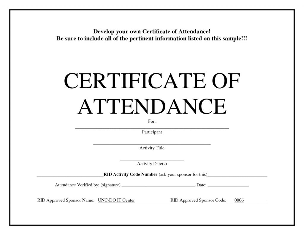 Printable Perfect Attendance Certificate Template Free Regar Attendance Certificate Certificate Of Achievement Template Certificate Of Participation Template Free printable certificate of attendance template