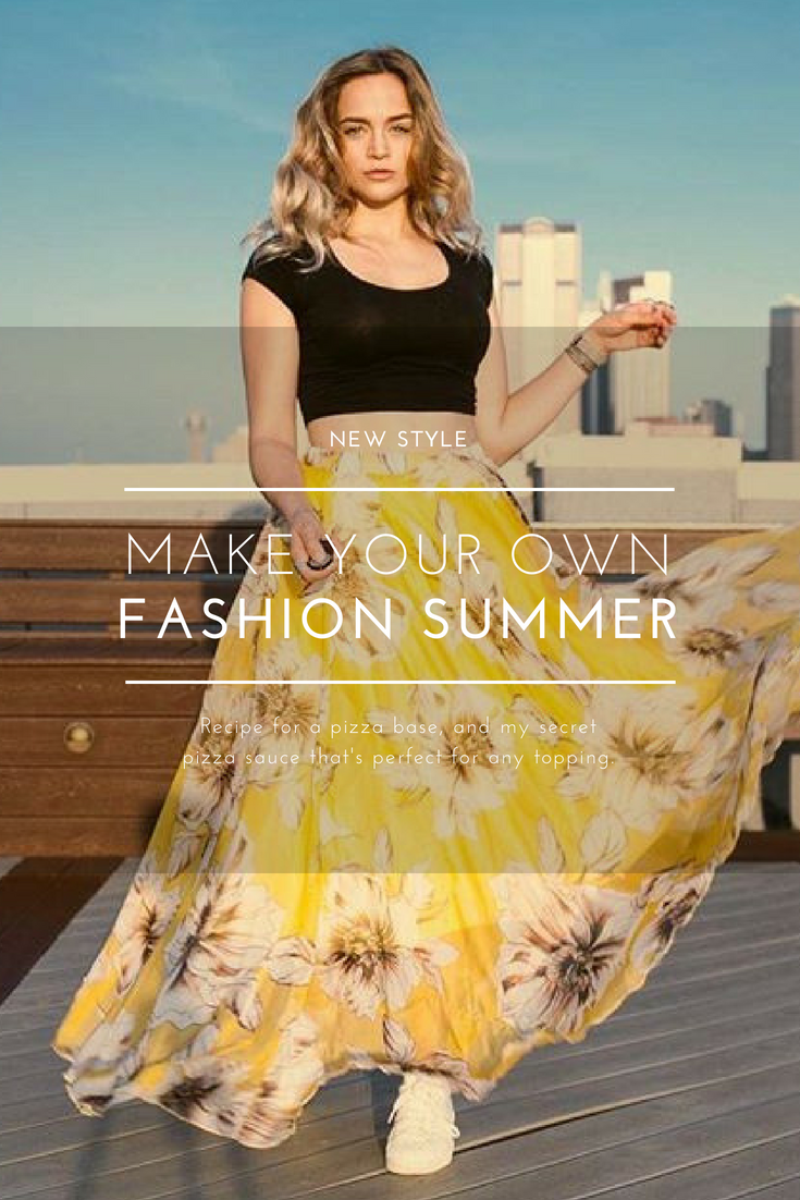 65f91bb4d4e90 Chic Yellow Blossoming Floral Chiffon Maxi Skirt | New in Women's ...