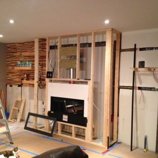 Basement West Wall Framing And Fireplace Install Fireplace Frame