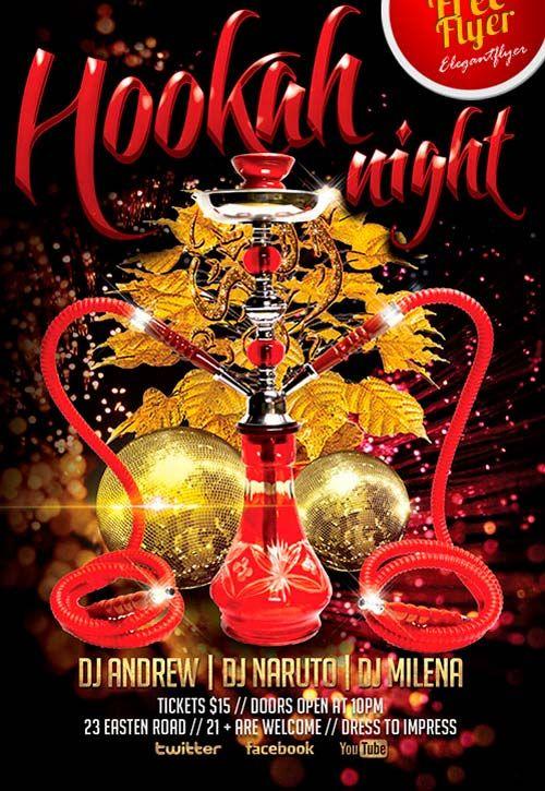 Free Hookah Night Flyer PSD Template freepsdflyer – Lounge Flyer Template