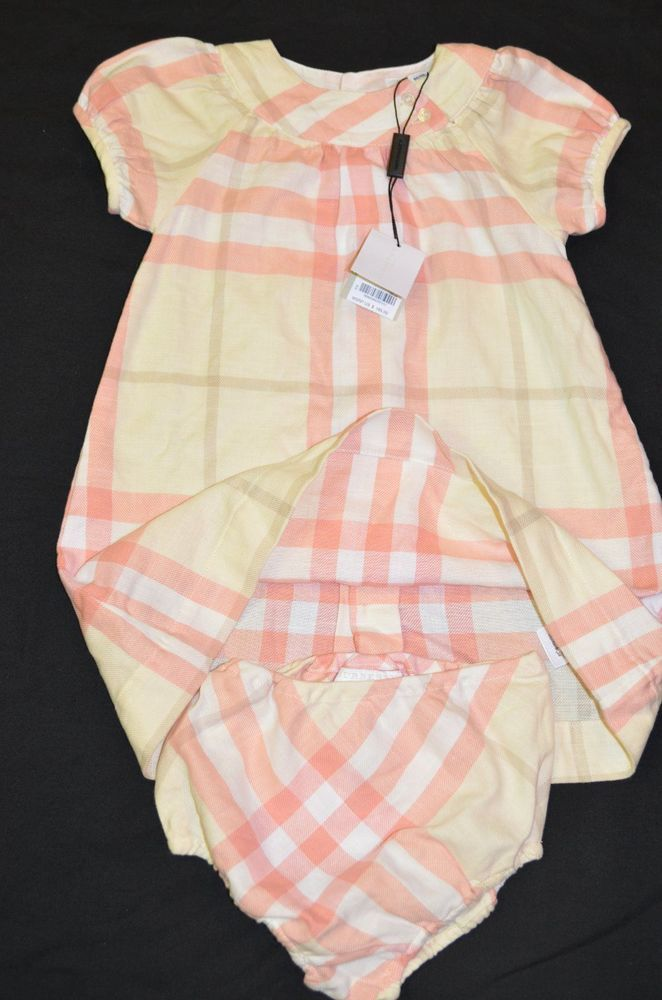 e31ed3025dbf Burberry Baby Girl 24 Months New 2 piece Check set Pink  Burberry  Dressy