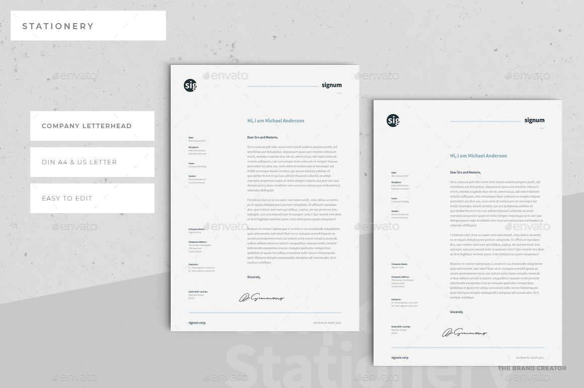 Construction Company Letterhead Template Stationery  Stationery  Pinterest  Corporate Identity And Logos