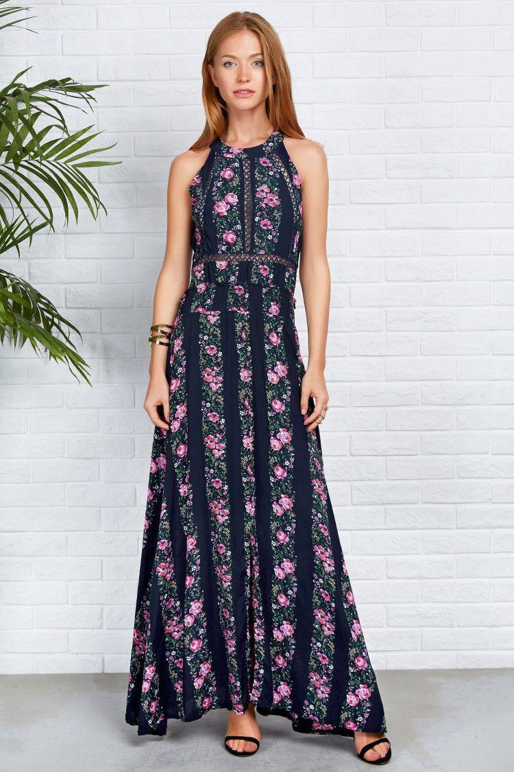 Adorewe cupshe cupshe floral arrangement hollow maxi dress