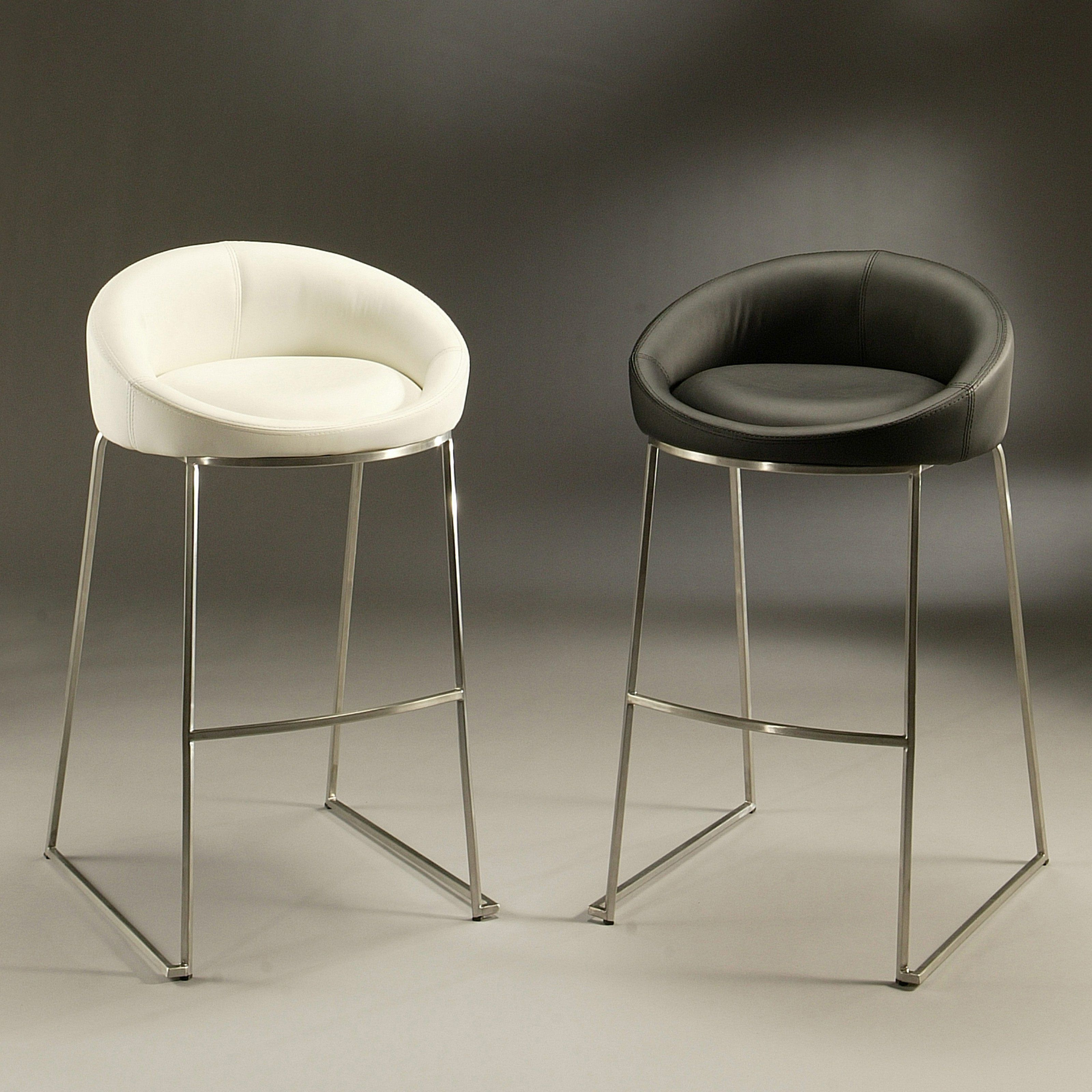 Impacterra 26 in Di Sinistra Counter Stool Stainless Steel