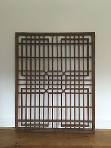 Chinese Antique Window Panel Architectural Salvage Fretwork Screens Shutters Chinese Furniture Decor Furniture