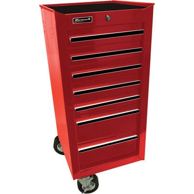 Homak 17in Pro Series 7 Drawer Side Cabinet Storage Side Cabinet Drawers