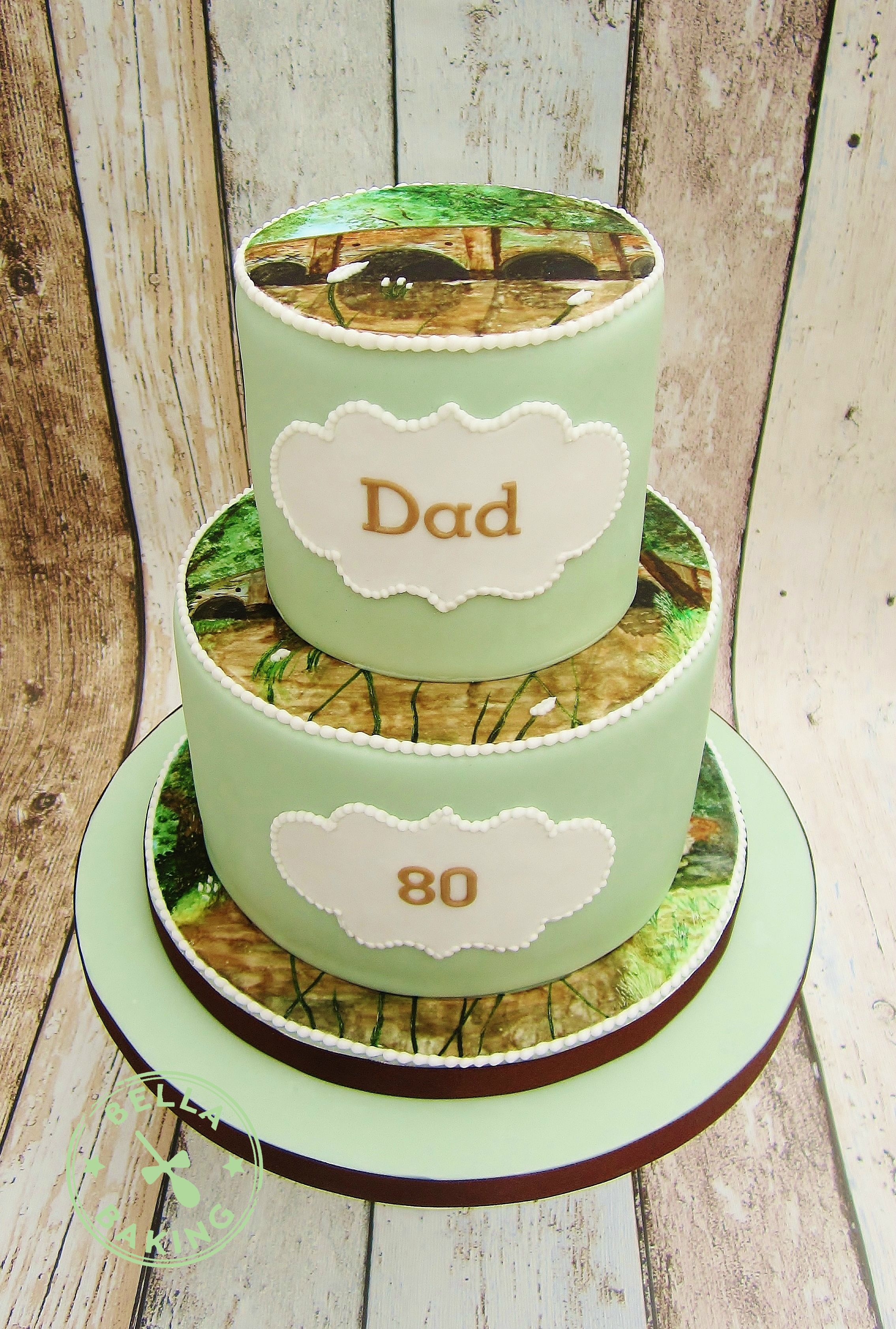 My Dads 80th birthday cake Bella Baking Cakes before I became