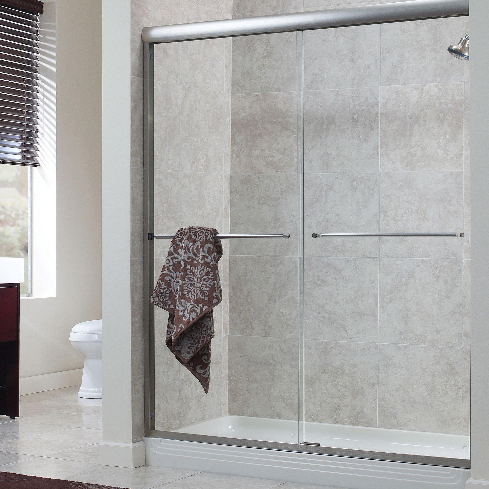 Hazelwood Home Brock 58 X 70 Bypass Frameless Shower Door Finish