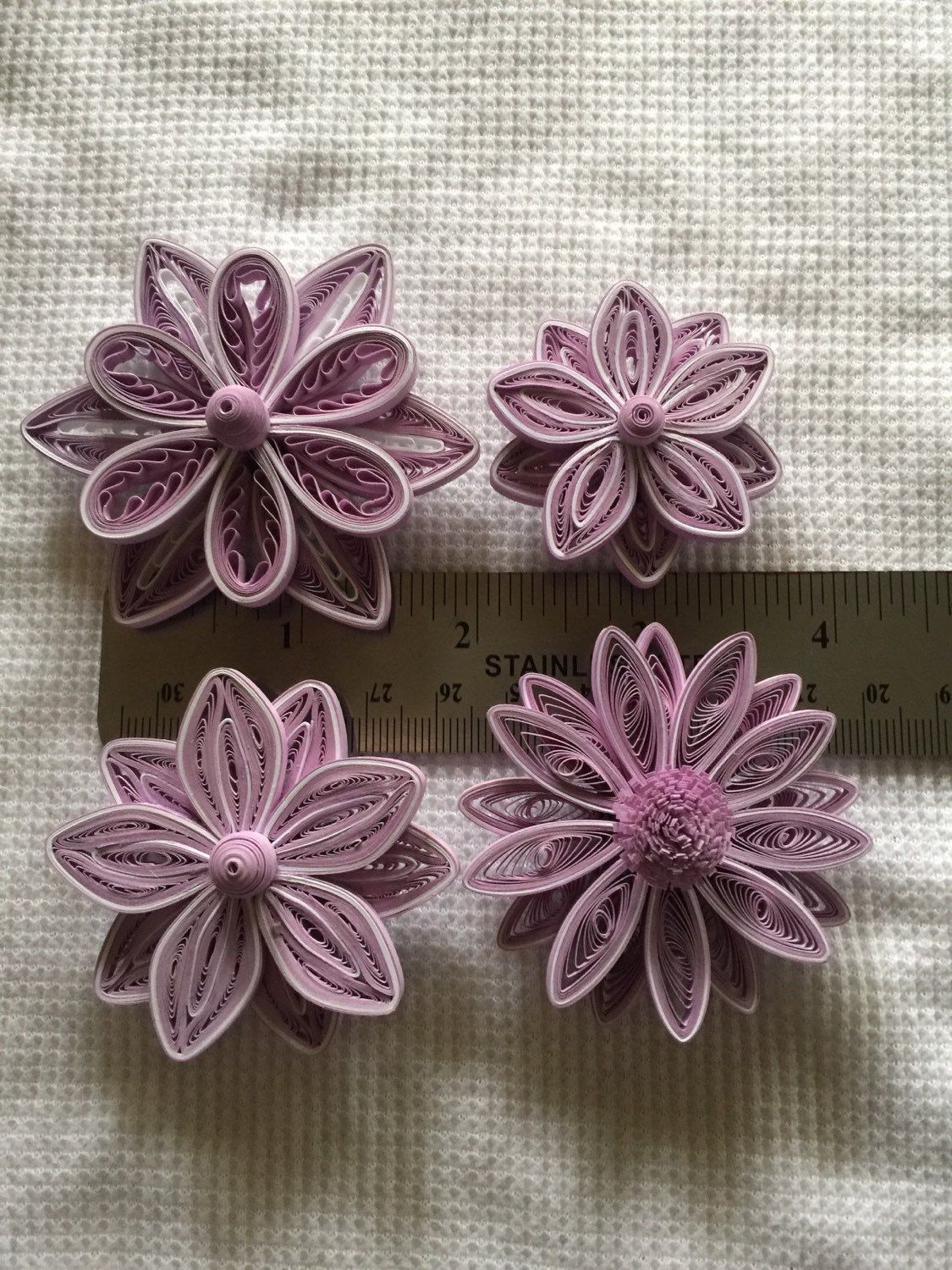 Paper quilled flowers by KraftKreationsByKim on Etsy