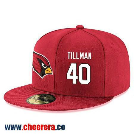 73785c985272 Arizona Cardinals  40 Pat Tillman Snapback Cap NFL Player Red with White  Number Hat