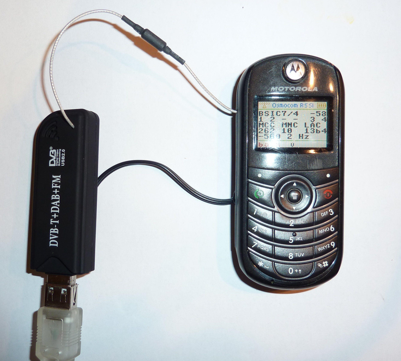 Old Motorola C139 running Osmocom BB firmware while