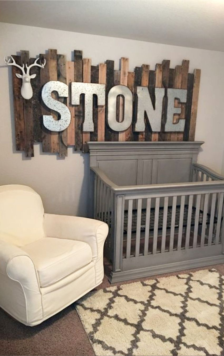 Baby Boy Nursery Decor Ideas DIY Rustic Nursery Ideas