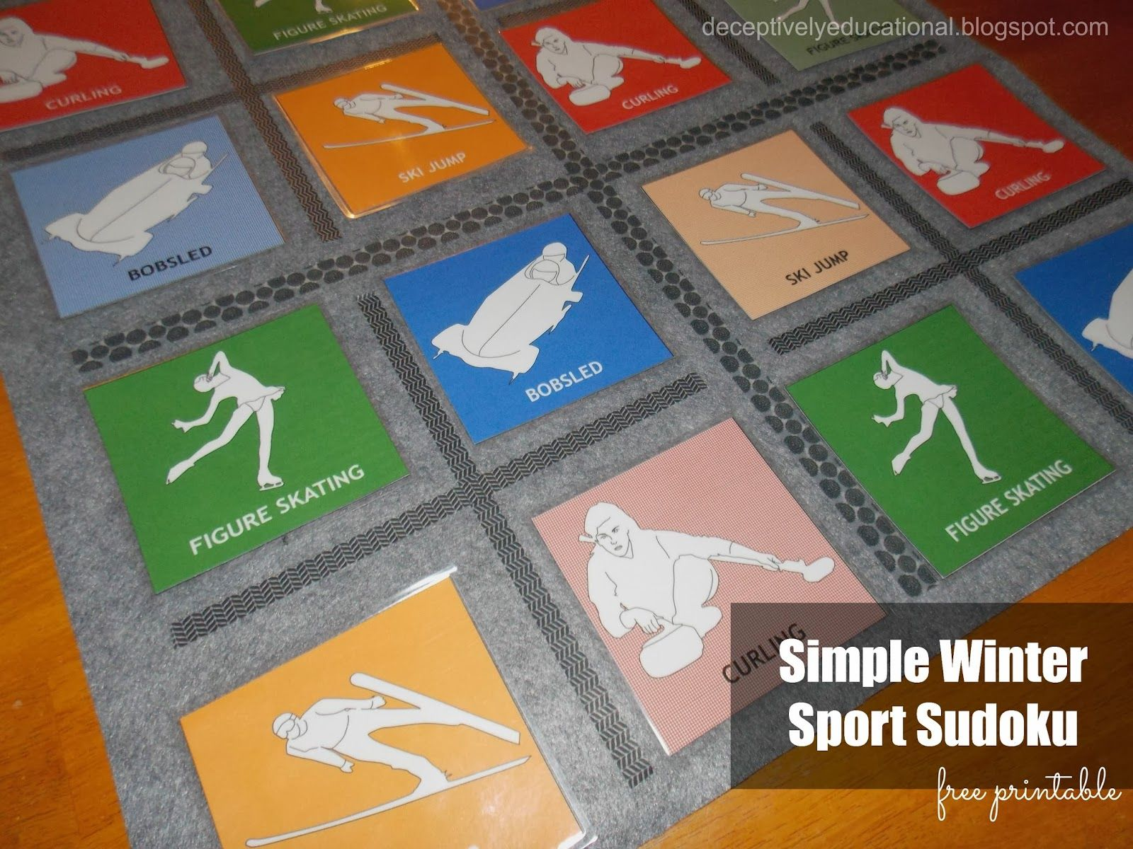 Simple Winter Sport Sudoku With Images
