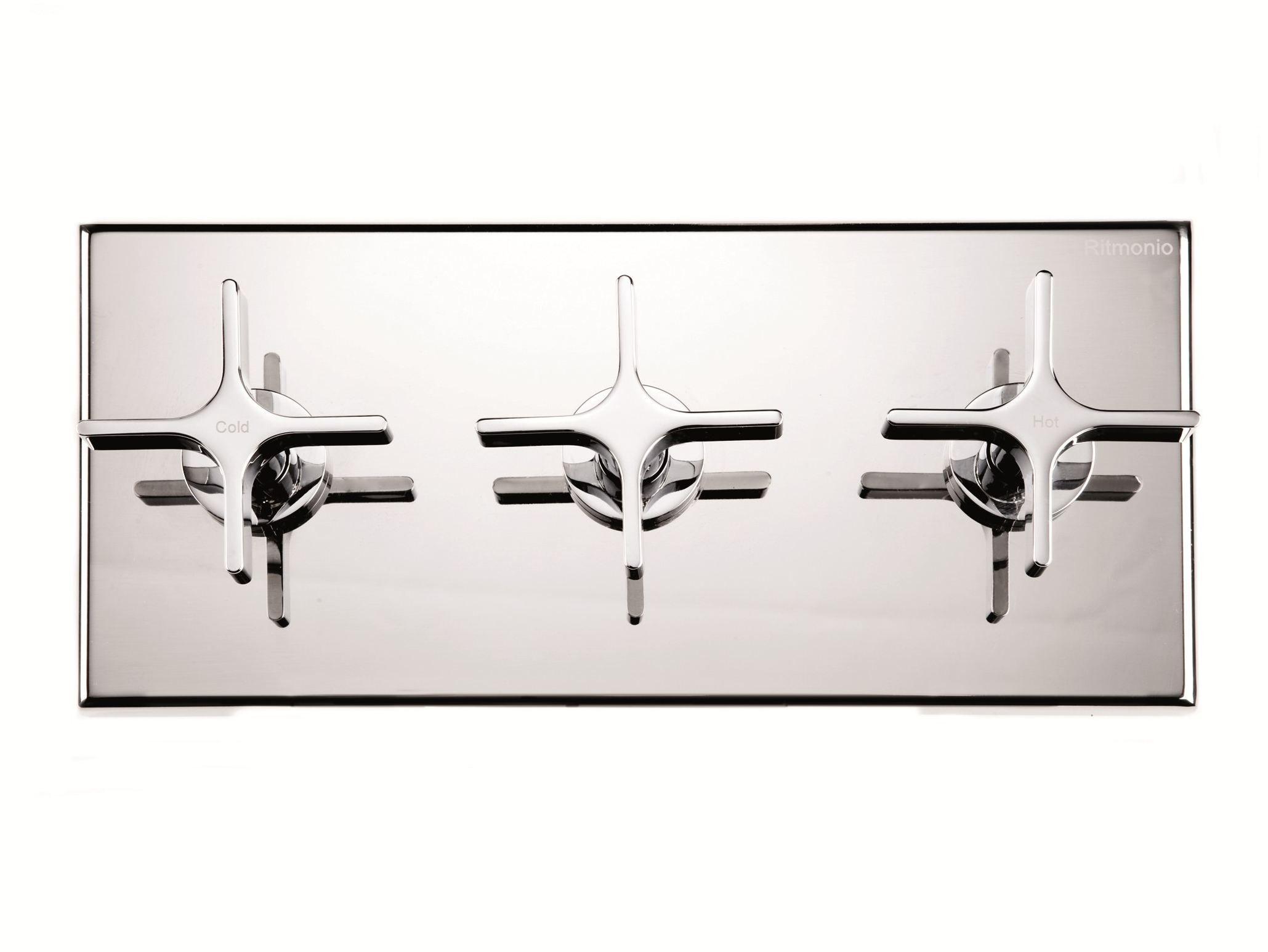 mitigeur de douche 3 trous avec d viateur avec plaque. Black Bedroom Furniture Sets. Home Design Ideas