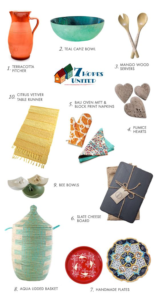 Great ideas for a gift wedding registry - Sustainable wedding registry from 7 Hopes United