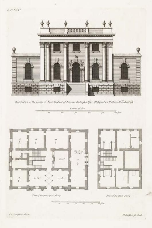 Elevation and plans for a neo palladian house plans for Palladian house plans