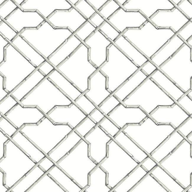 Bamboo Trellis Wallpaper In Ivory And Grey Design By York