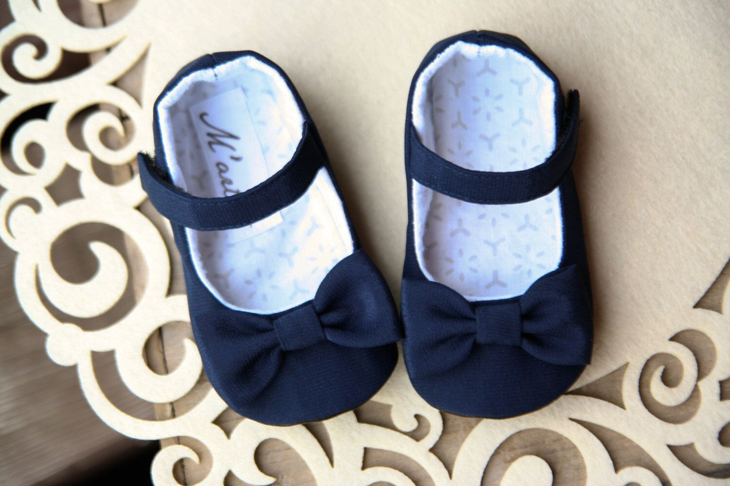 baby girl shoes, navy baby shoes