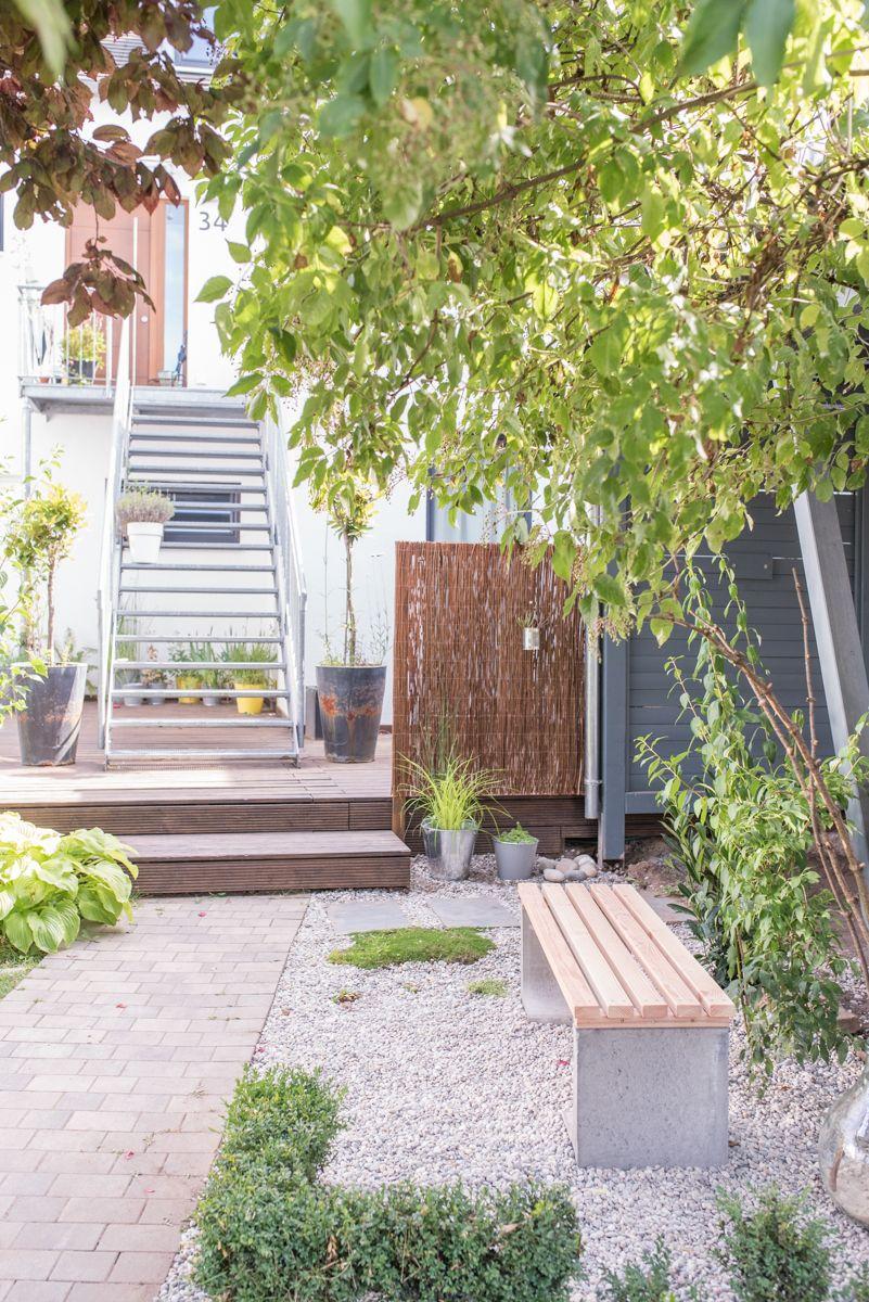 DIY Gartenbank mit Beton und Holz Landschaftsbau mit