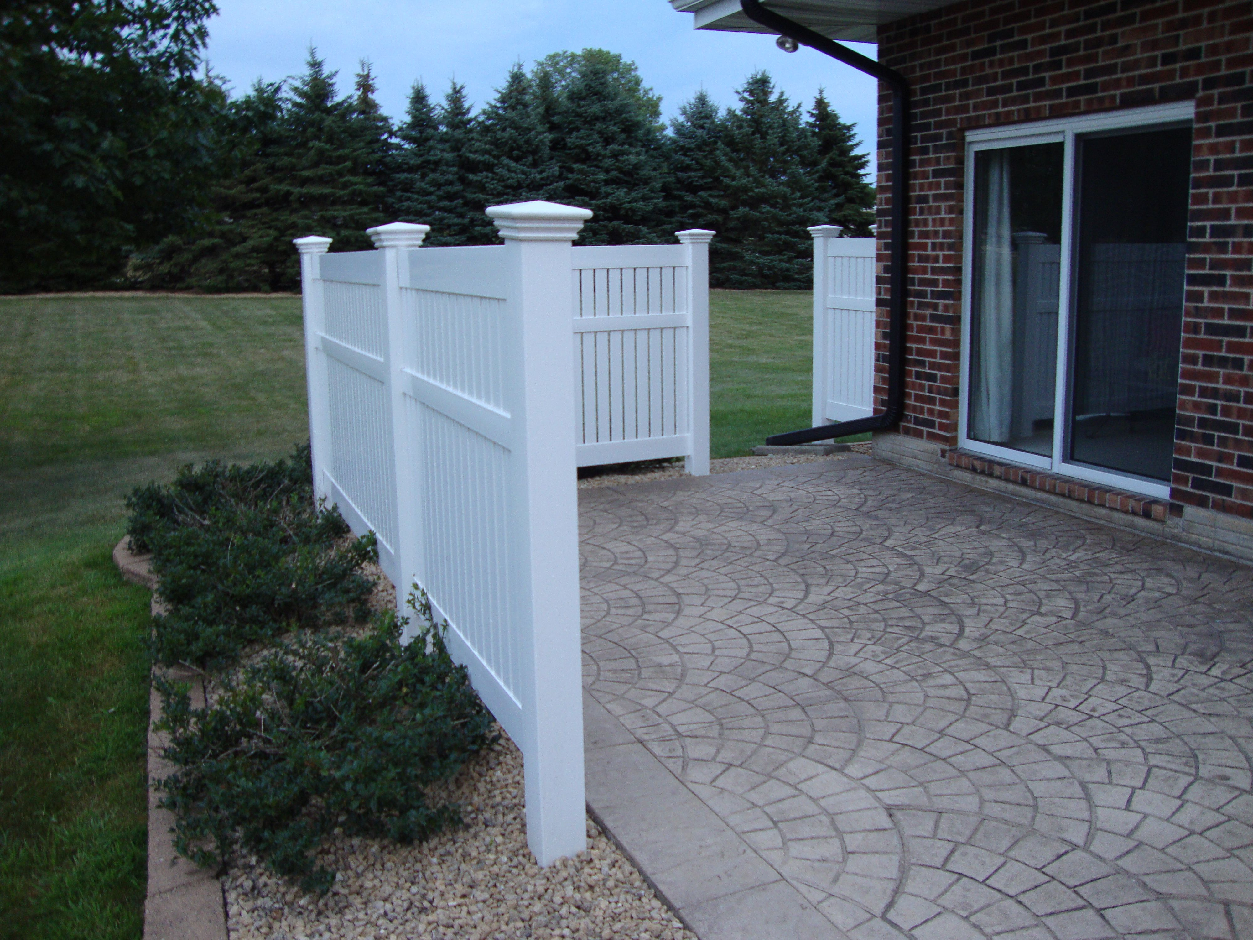 #fencing Setup That Adds Partial Seclusion To A Patio Area