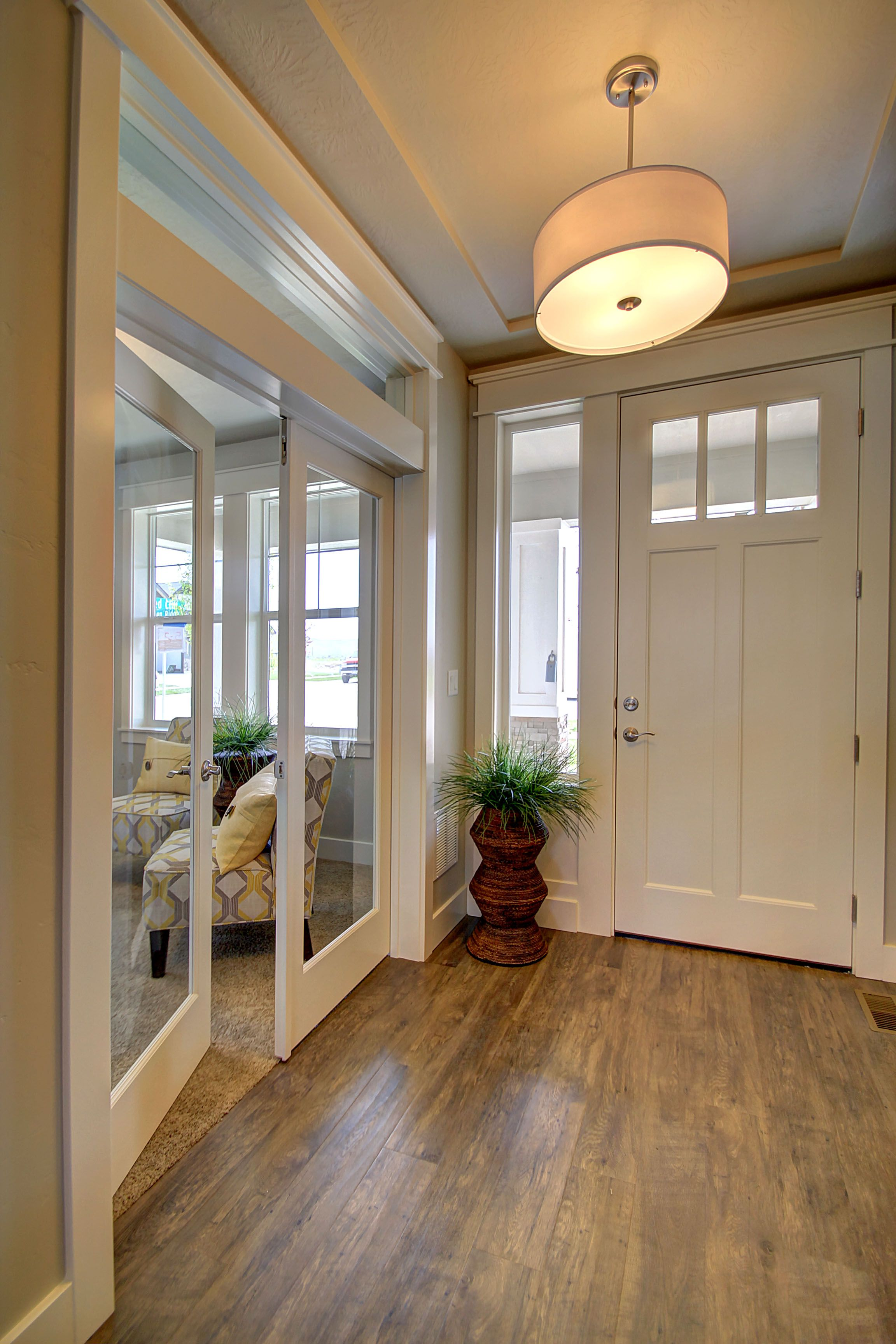 office french doors. Our Entry - Craftsman Door, Office French Doors With Transom Window Above (need A Cool Light Fixture For This Entry....) 2