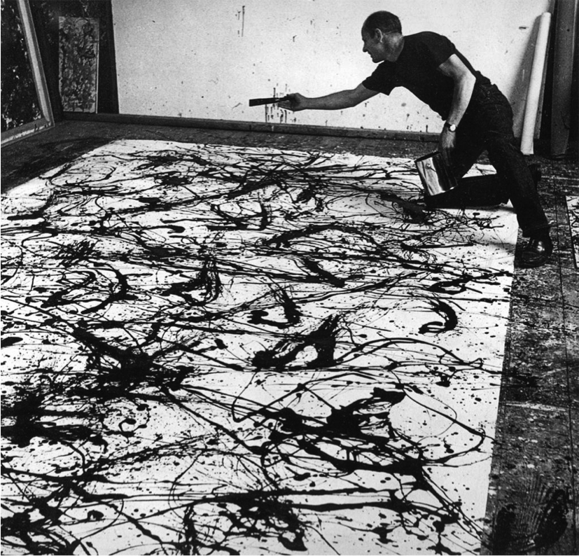 Jackson Pollock. I love this artist because he paints with emotion ...