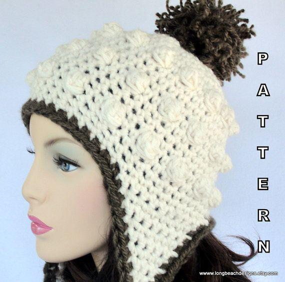 Crochet Ear Flap Hat PATTERN , Sugar Mountain Earflap Hat | Pinterest