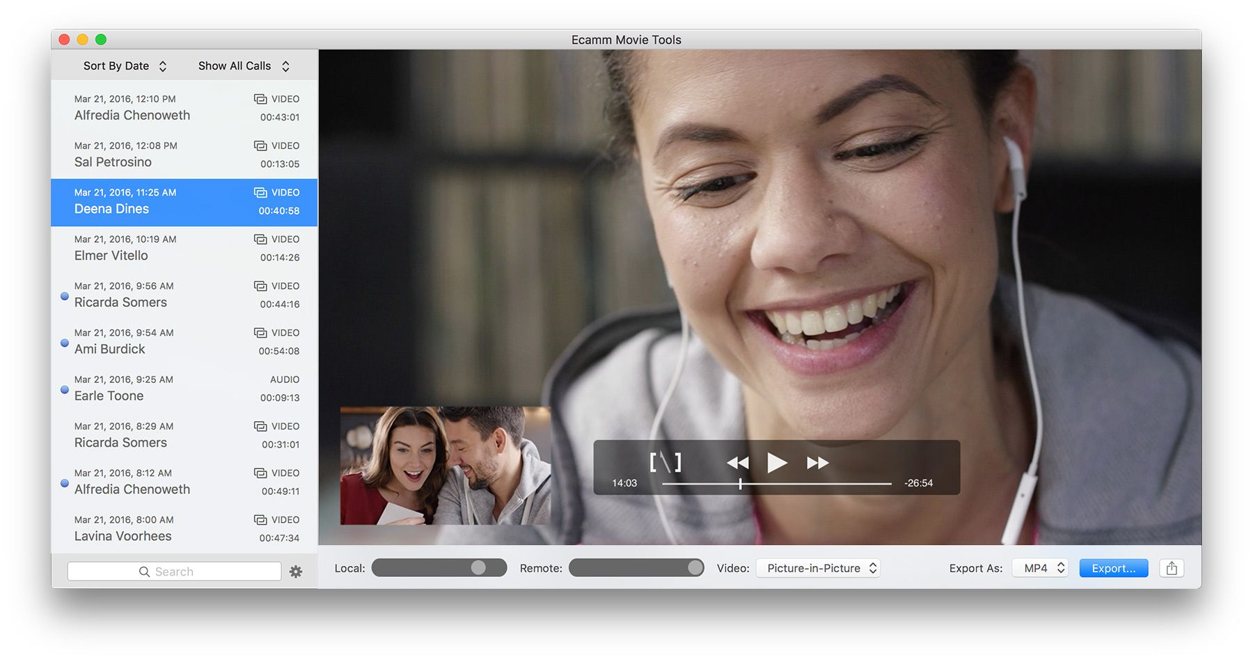 Call recorder for skype with images facetime