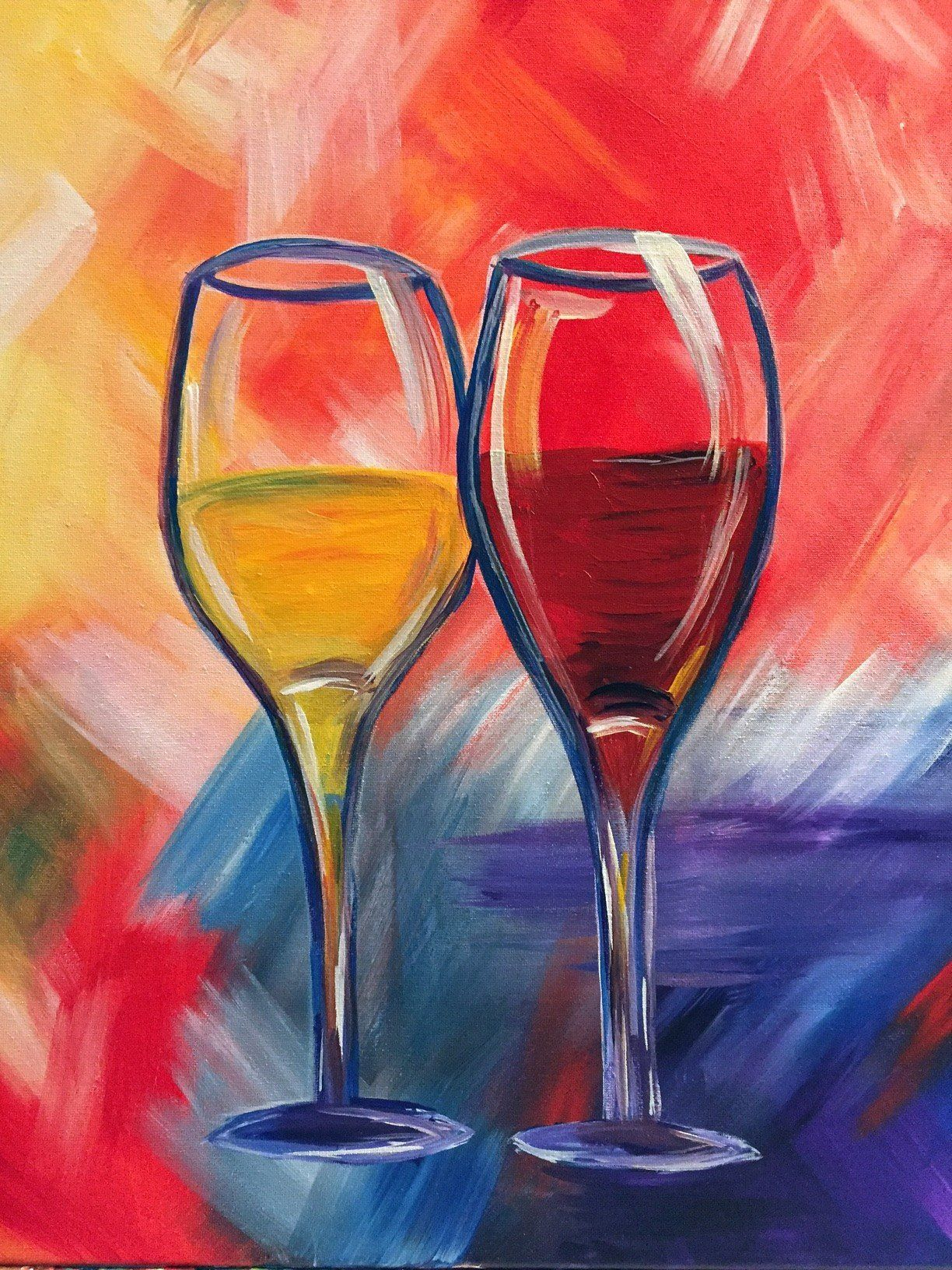 Love In 2020 Wine And Canvas Pictures To Paint Painting