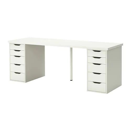 Linnmon Alex Table Black Brown Blue 78 3 4x23 5 8 Craft Table Ikea Ikea Table Ikea Desk