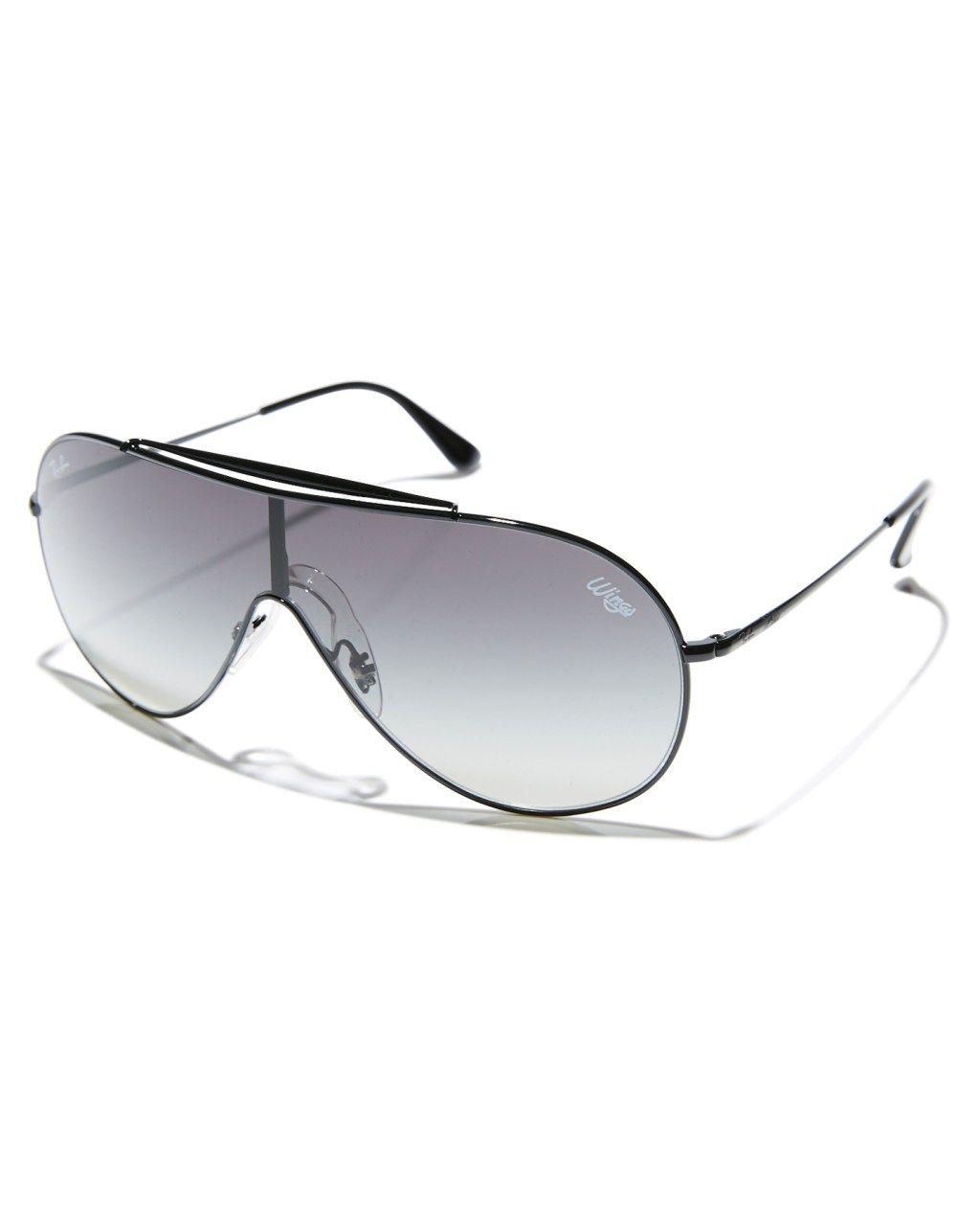 ca6ea9bf45 Ray-Ban Wings Sunglasses Black Grey Gradient Mens sunglasses Size ...