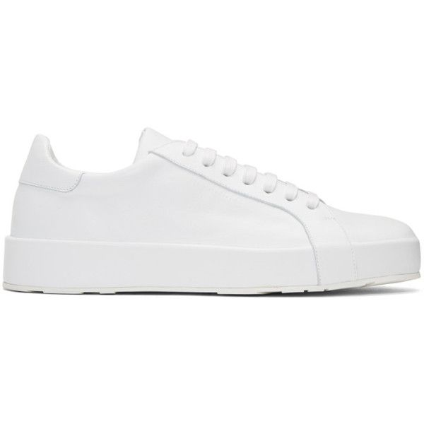 lace-up sneakers - White Jil Sander